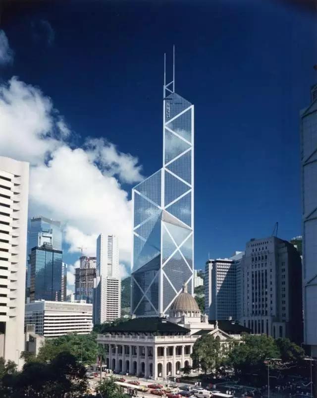 苏州博物馆片石假山手绘图 香港中银大厦 楼高七十层 以竹子(节节高)