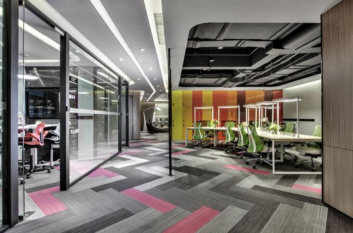 金融科技公司办公室办公区装修设计效果图