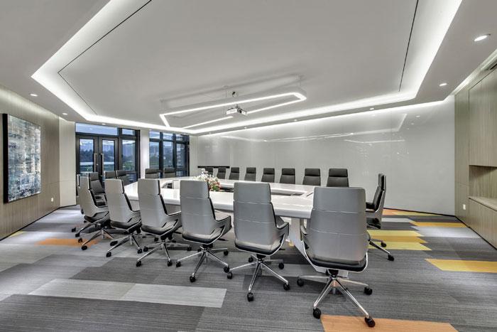 金融科技公司办公室会议室装修设计效果图