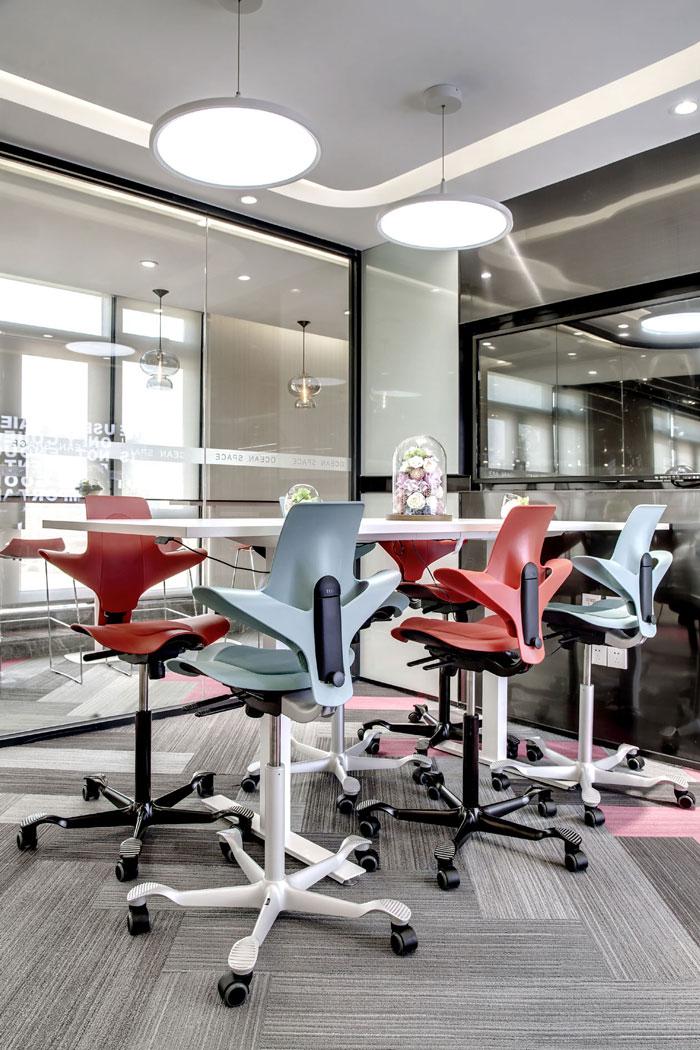 金融科技公司办公室洽谈室装修设计效果图